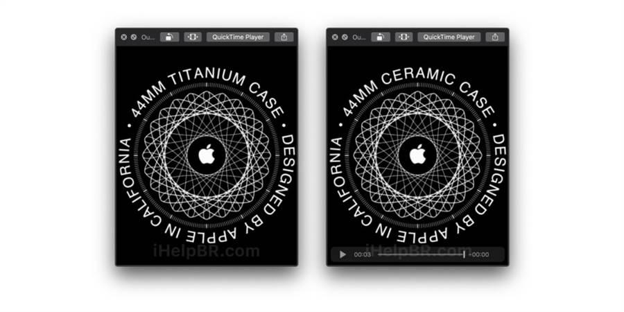 外媒在 watchOS 6 測試版中發現藏有全新陶瓷(ceramic)錶殼以及鈦合金(titanium)錶殼的資訊。(圖/翻攝iHelpBR)
