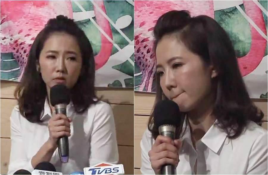 謝忻今出面道歉,她身形明顯消瘦許多。(圖/翻攝自中時電子報臉書)