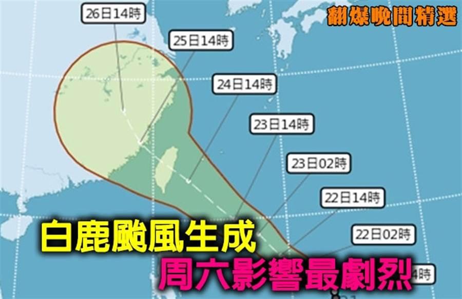 《翻爆晚間精選》白鹿颱風生成 周六影響最劇烈