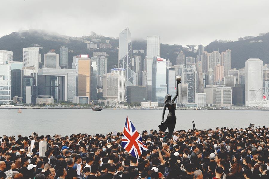 香港反送中風波延燒。(美聯社)