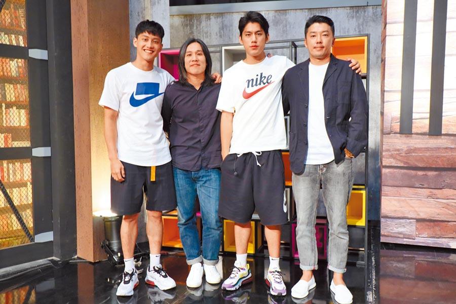 朱軒洋(左起)、張榮吉、范少勳和段鈞豪一起宣傳《下半場》。
