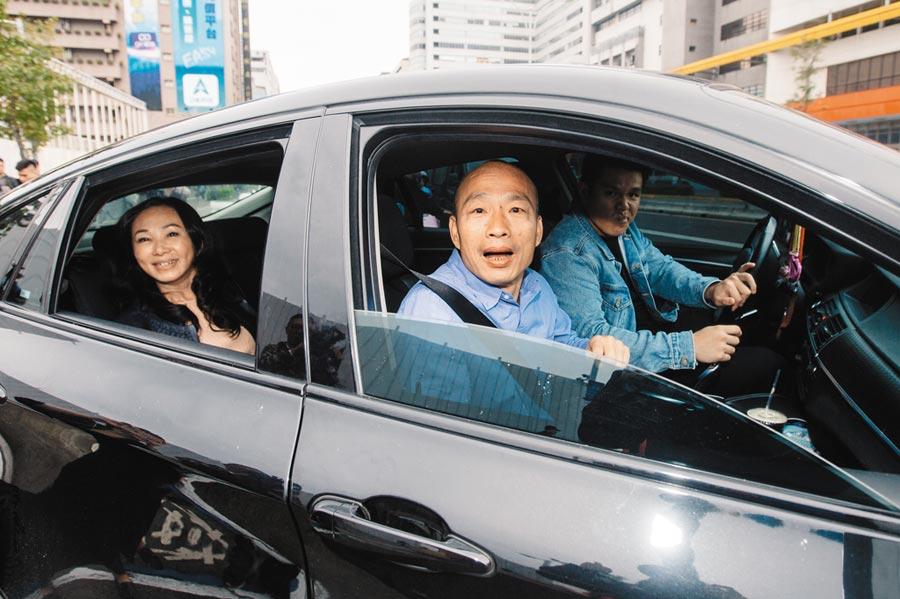 韓國瑜20日自爆,他的座車可能被裝追蹤器。(本報系資料照片)