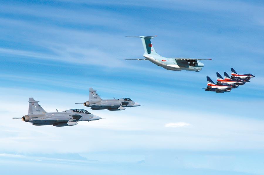 泰國空軍JAS-39戰機。(新華社資料照片)