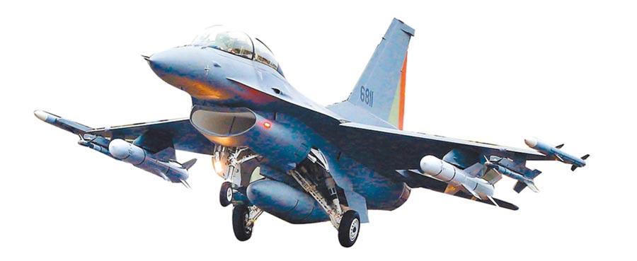 完成性能改良的編號6811的F-16V在今年「漢光35演習」亮相。(本報系資料照片)
