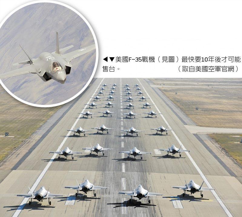 美國F-35戰機最快要10年後才可能售台。(取自美國空軍官網)