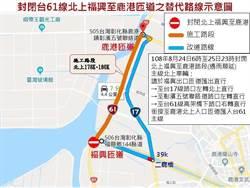 彰濱快速道路24、25日封閉北上福興至鹿港段