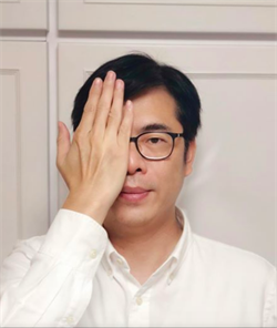 陳其邁、徐國勇遮右眼聲援反送中