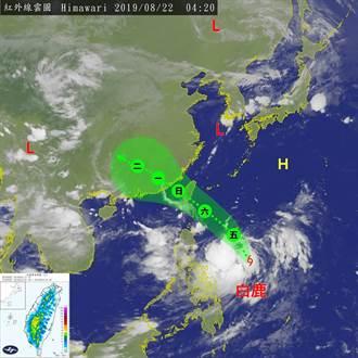 氣象局:輕颱白鹿在東南部登陸機率較大