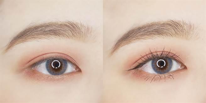 媚比琳定型濃捲風防水睫毛膏可打造根根分明的睫毛妝感。(圖/品牌提供)