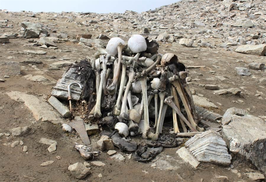 路普康湖發現的人骨(圖/達志影像)