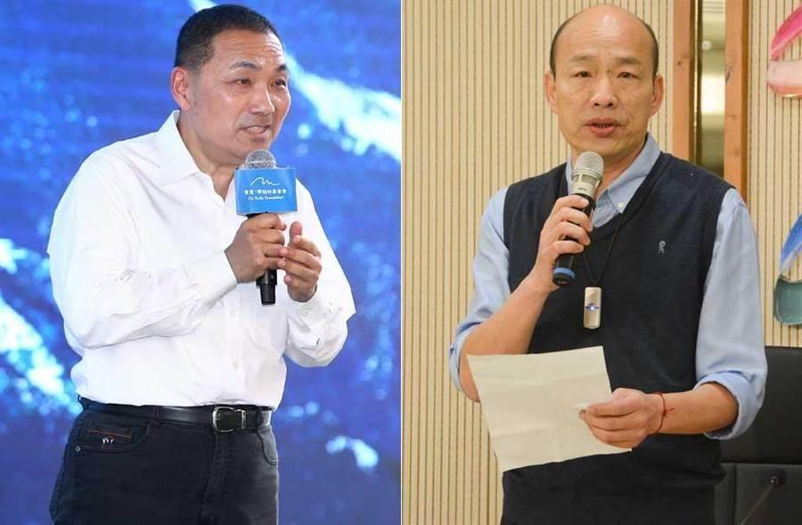 新北市長侯友宜(左)、高雄市長韓國瑜(右)。(合成圖/中時資料照)