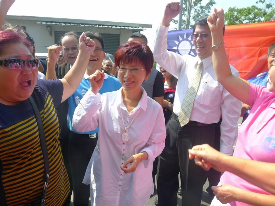 前國民黨主席洪秀柱遷戶籍到台南東區,積極表態參選台南市第6選區立委。(本報系資料照片)