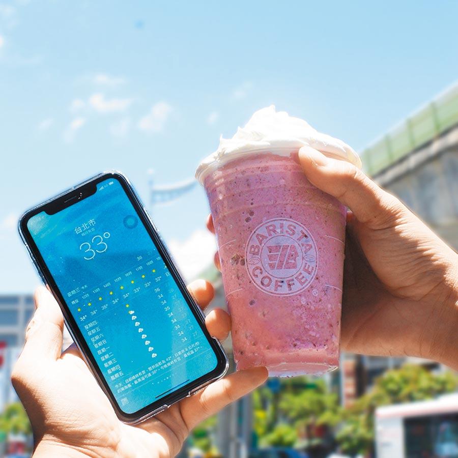酷暑難耐,需要來杯冰沙清涼「夏趴」一下。圖/業者提供