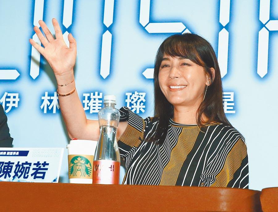 伊林娛樂副董事長陳婉若21日出席璀璨之星總決賽。(本報系記者粘耿豪攝)
