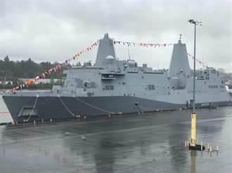 獨》美聖安東尼奧級兩棲登陸艦 今通過台海中線