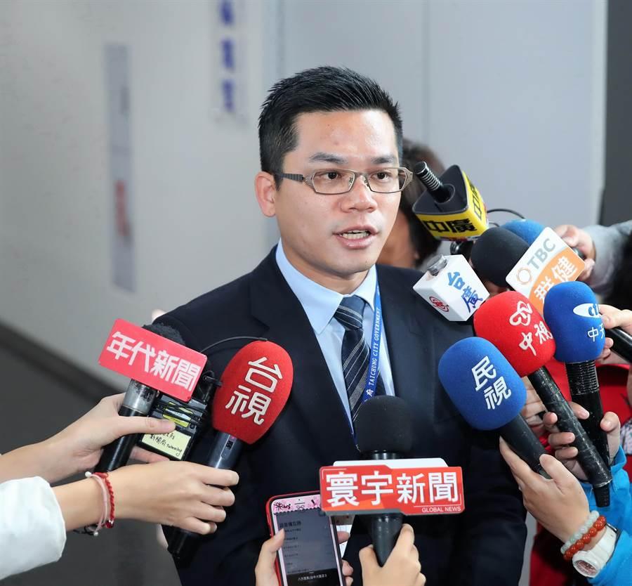 台中市府新聞局長吳皇昇表示,新的人事名單,預計於下周二市政會議上,由盧秀燕對外正式宣布。(盧金足攝)