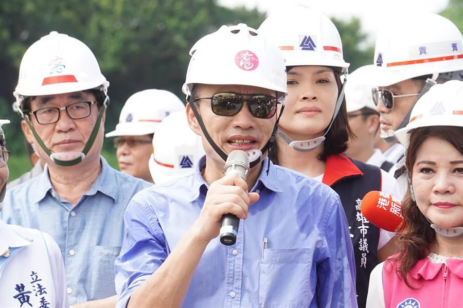 高雄市長韓國瑜今天反問蔡英文總統,也曾對馬政府提出「國家機器有無濫用」問題。(柯宗緯攝)