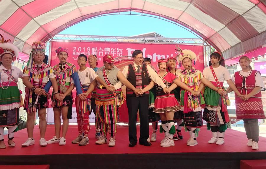 桃園市今年原住民族豐年祭將於31日、9月1日於桃園高鐵青青埔站前廣場舉行。(甘嘉雯攝)