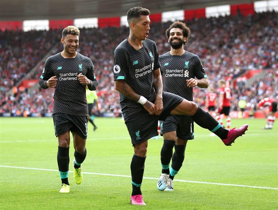 利物浦球差較優勝,位居英超首位。(達志影像)