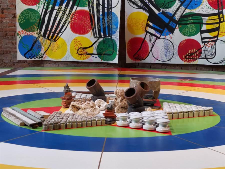 蕭壠文化園區A1館《天地萬物生生相息》展,即日起至9月29日展出,免費參觀。(劉秀芬攝)