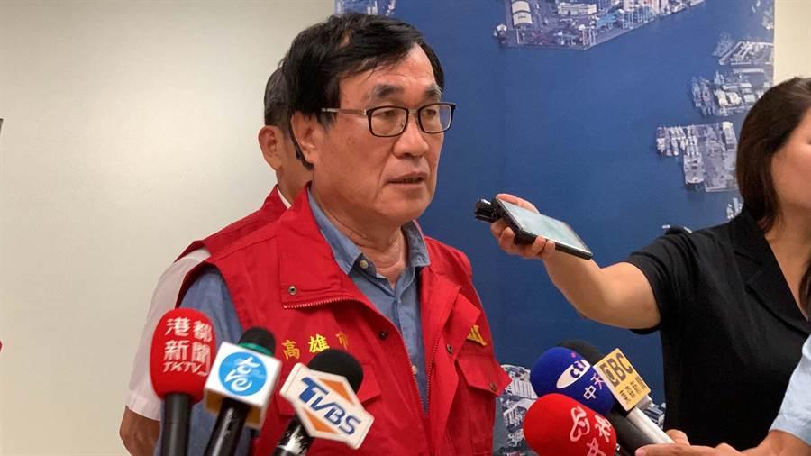高雄市副市長李四川表示,將於晚間7點前對外公布高雄市明天是否停班課。(柯宗緯攝)