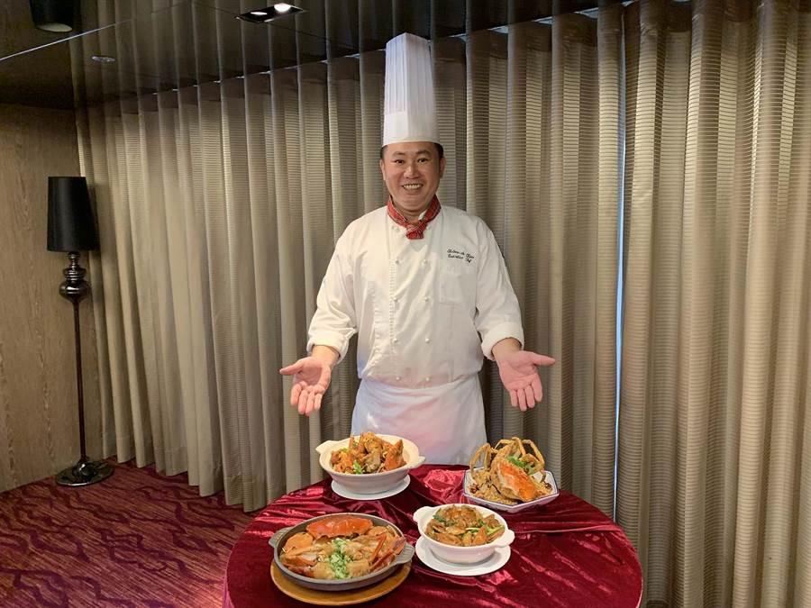 高雄翰品推出「秋蟹一泊二食饗宴」住房專案。(柯宗緯攝)