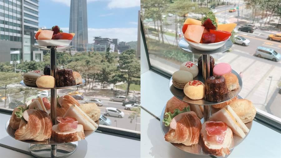 誠品信義店TEA ROOM推出期間限定的郭元益下午茶。(圖/邱映慈攝影)