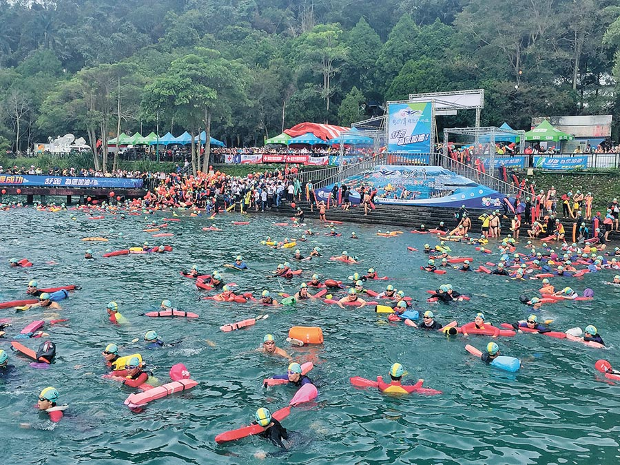 日月潭萬人泳渡,將於9月1日舉行。(廖志晃攝)