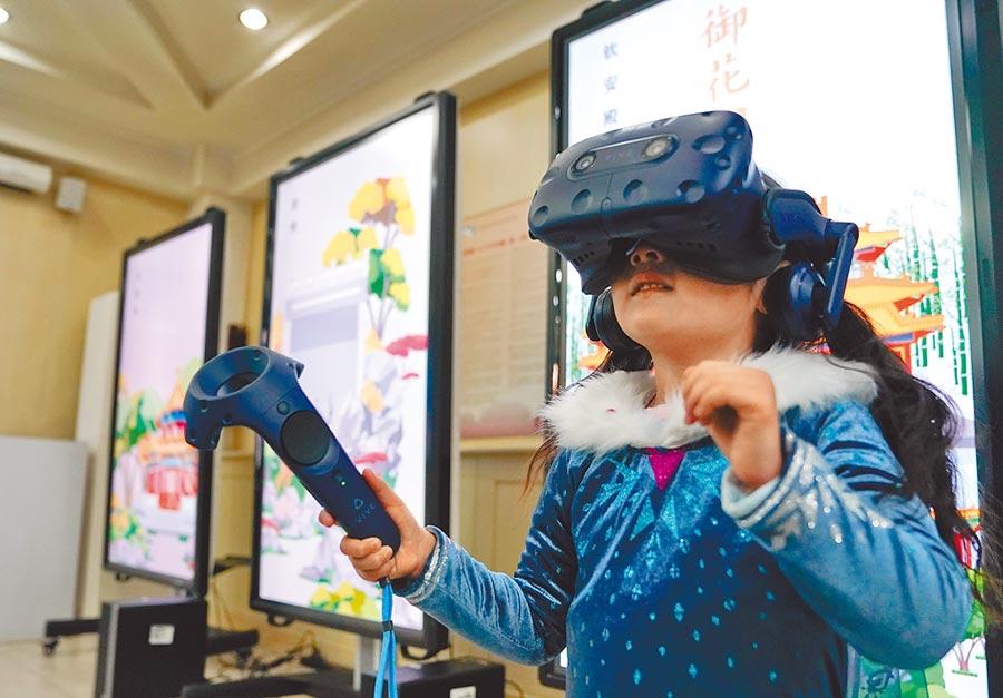 北京故宮博物院第7部大型虛擬實境作品──「御花園」。(中新社資料照片)