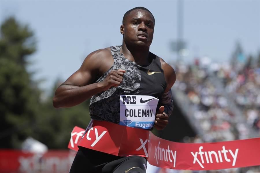 美國短跑名將柯曼。(美聯社資料照)