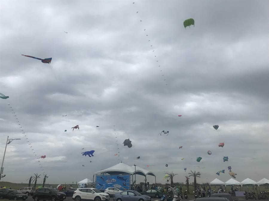 新竹市國際風箏節24日第1天活動取消。(陳育賢攝)