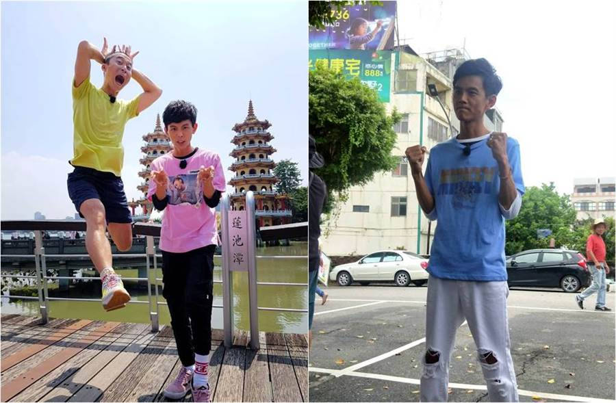 浩子、阿翔相隔2個月,臉書終於有合體照(圖左)。(圖/本報系資料照片(圖右)、取材自浩角翔起笑一個 官方粉絲專頁臉書)