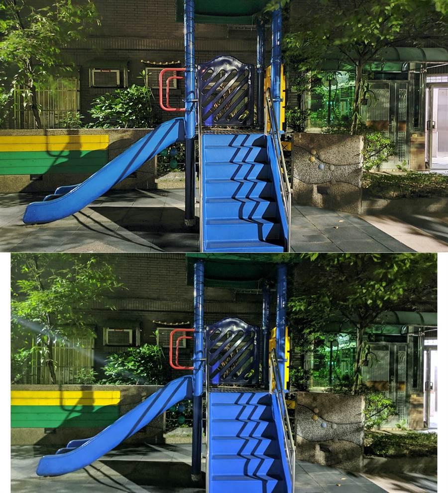 Galaxy Note 10 與 Pixel 3 夜拍對比照(3)。(圖/黃慧雯攝)