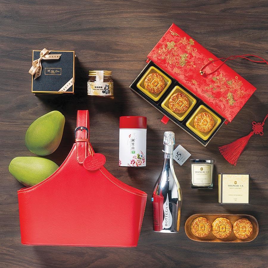 香格里拉台北遠東國際飯店,今年也設計了時尚禮籃提供品味一族送禮新選擇。圖/麗緻餐旅集團