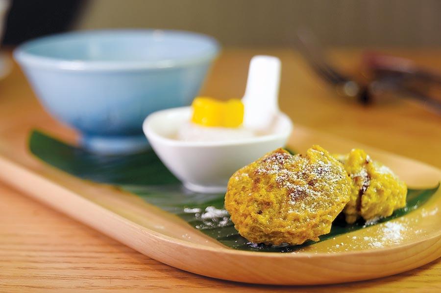 台北君悅〈凱菲屋〉自助餐廳舉辦馬來西亞美食節期間,亦可以嘗到諸如〈綠豆餅〉、〈香蕉西米露〉等南洋甜點,且一律吃到飽。圖/姚舜