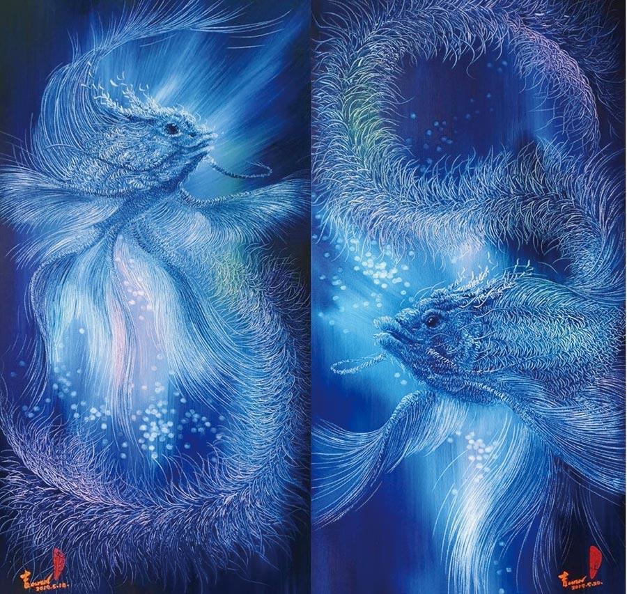 藝術家林吉裕以「砍劈編織法」創作的作品。圖/林吉裕提供