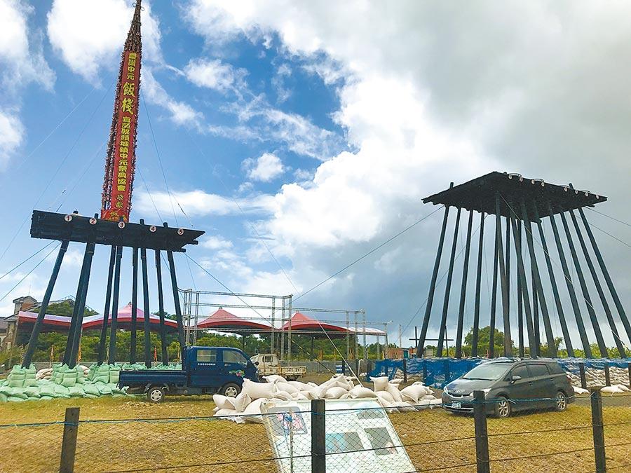 宜蘭縣最具代表性的傳統民俗活動「頭城搶孤」,29日也就是農曆7月最後一天,將在頭城搶孤園區舉行。(胡健森攝)
