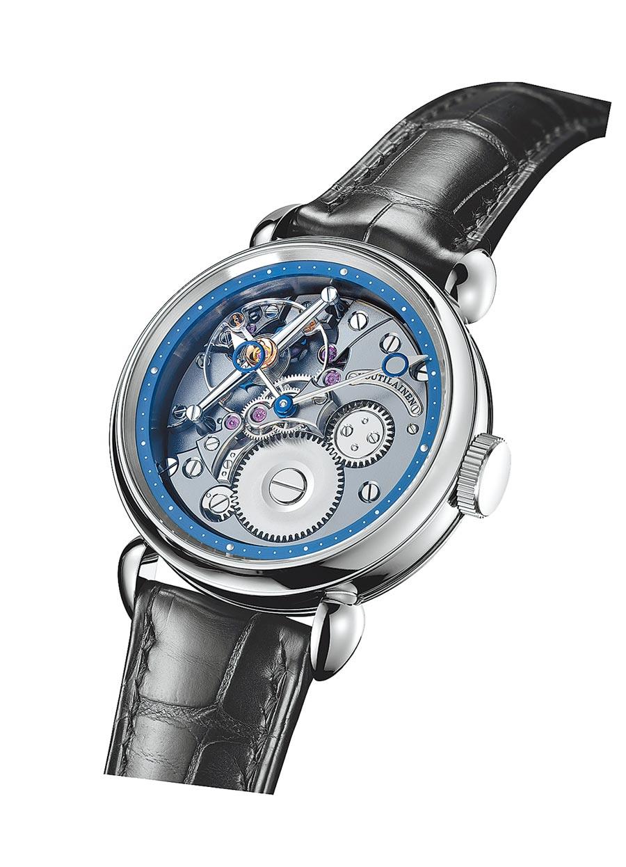 製表大師Kari Voutilainen的新作「Vingt-8 TI」腕表,約300萬元。(Kari Voutilainen提供)