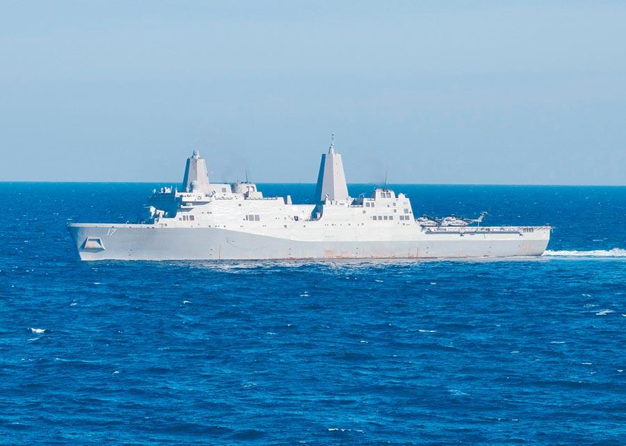美軍聖安東尼奧級兩棲船塢登陸艦。(取自美國海軍官網)