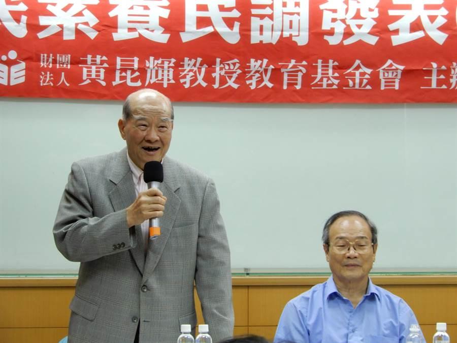 黃昆輝教授教育基金會今天公布「國人媒體素養調查」。(林志成攝)