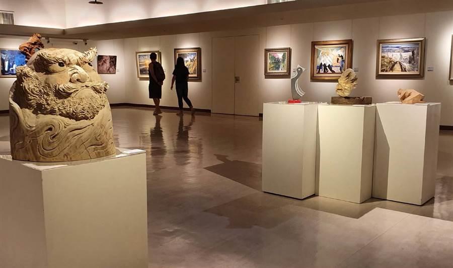 「2019台中市當代藝術家聯展」在台中市大墩文化中心開幕,將展至9月10日。(陳淑芬翻攝)