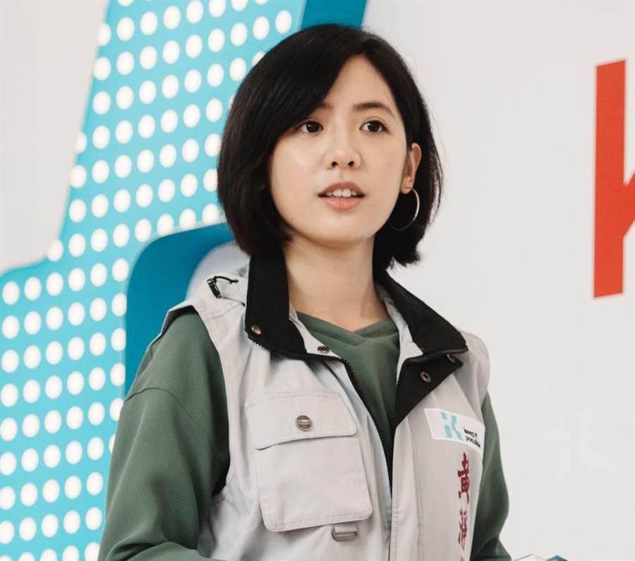 台北市政府副發言人、「學姐」黃瀞瑩(郭吉銓攝)