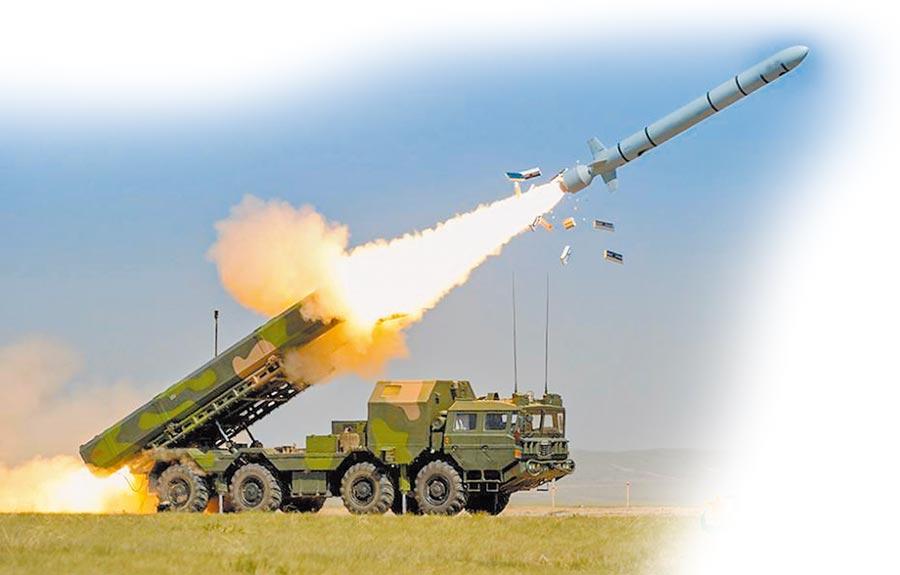 解放軍長劍-10巡弋飛彈發射瞬間。(取自中國軍網)