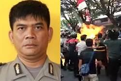 印尼示威者向警察潑汽油點火 一警皮膚嚴重燒傷不治