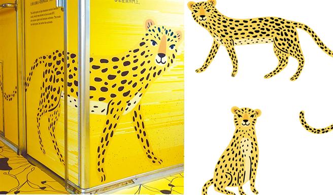 左圖為集集彩繪列車的石虎/右圖為達志影像的花豹。(左/台鐵提供 右/達志)
