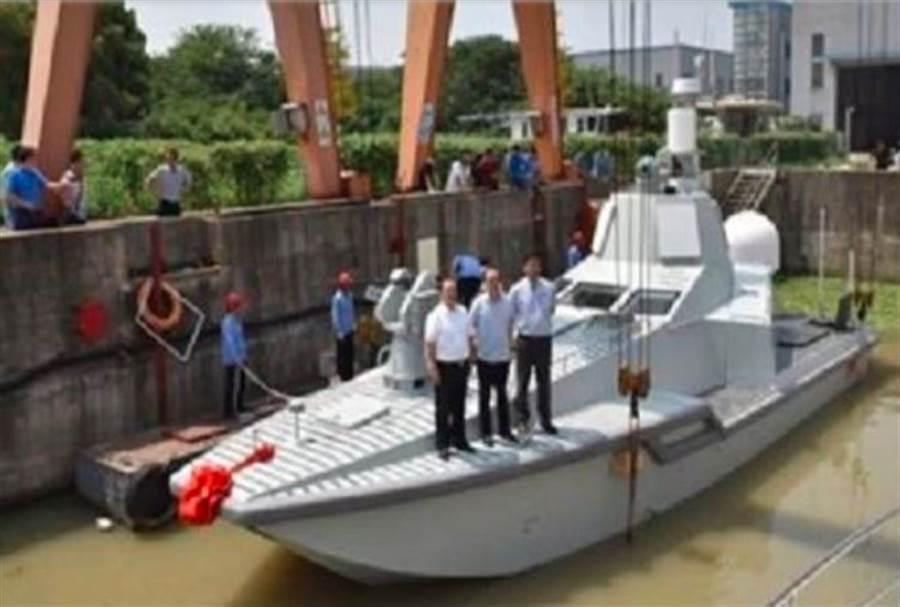 JARI攻擊型無人艇已下水,並據稱形成初始戰力。(中國船舶工業總公司)