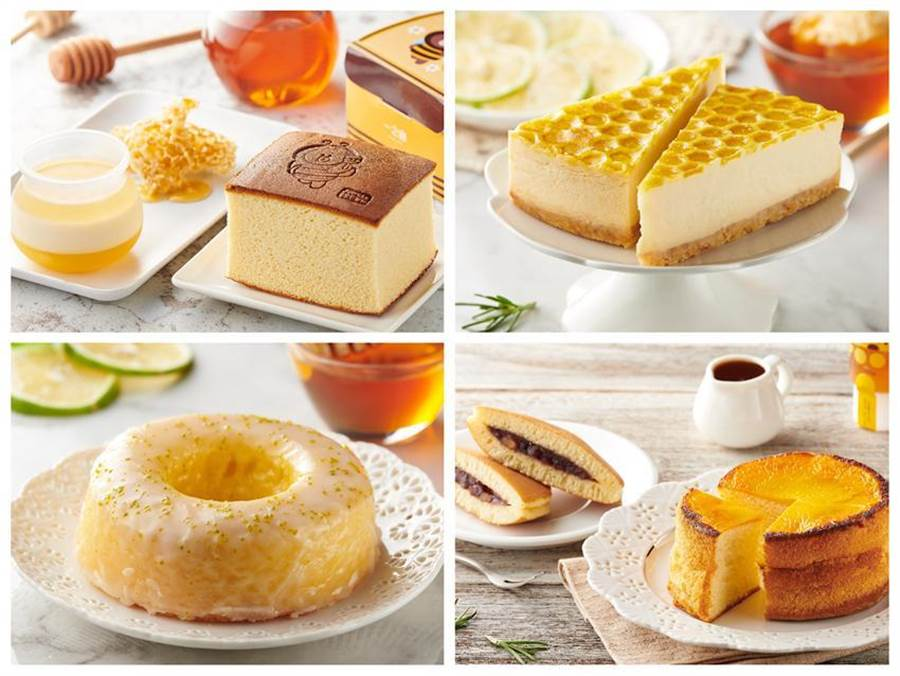 (全聯We Sweet攜手蜜蜂工坊,推出8款聯名甜點。圖/業者提供)
