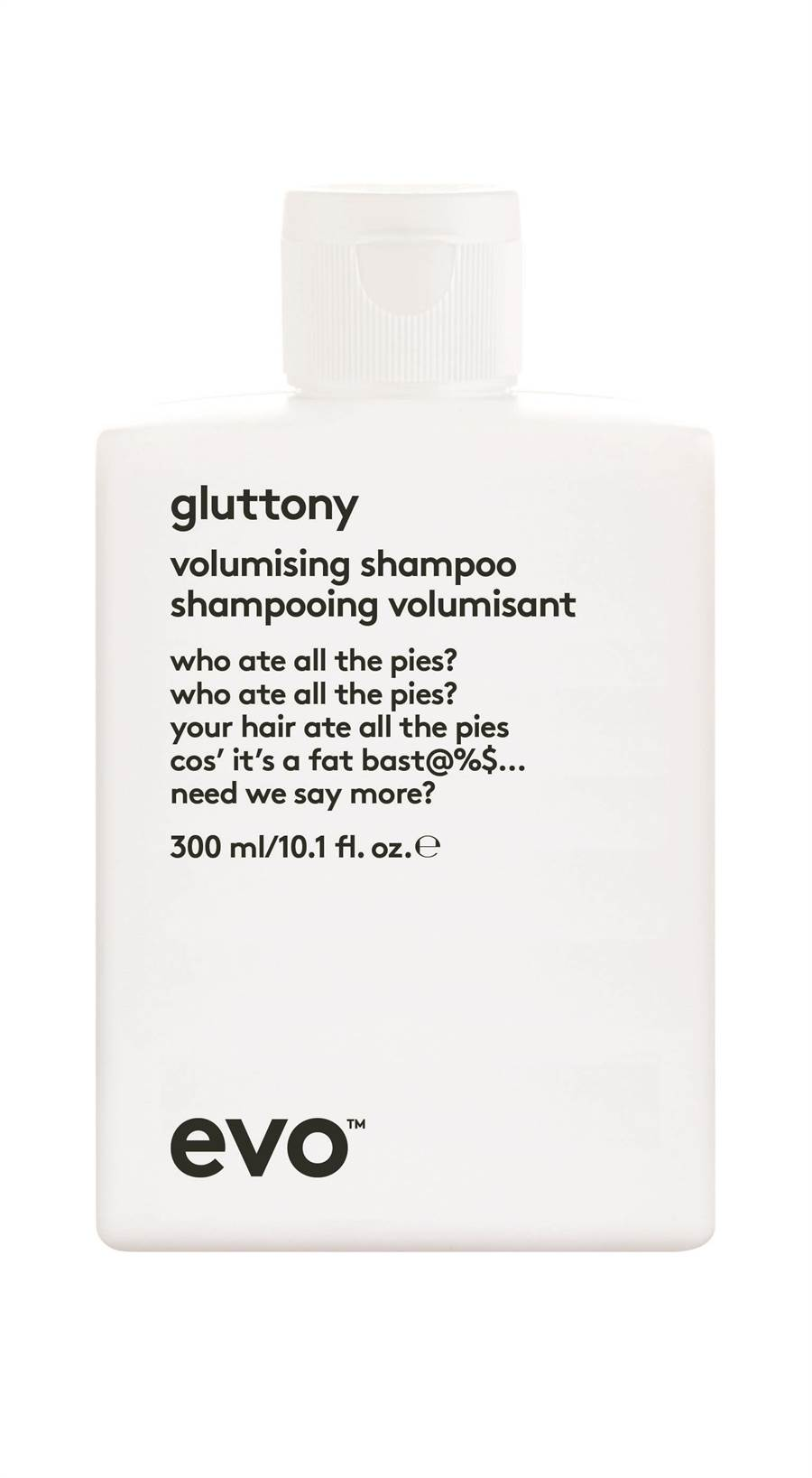 evo極度蓬鬆系列蓬鬆洗髮精。(evo提供)
