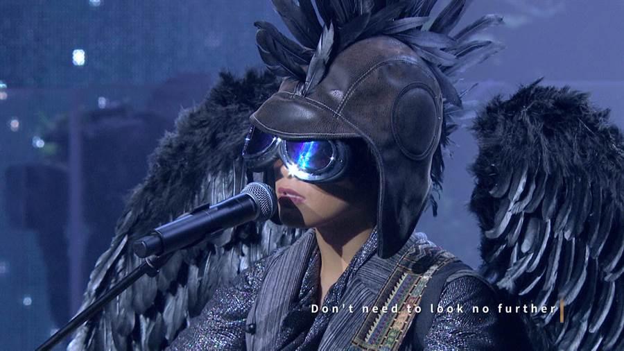 中天綜合台《聲林之王2》收視開紅盤,高點落在「鳥人」吱吱登台瞬間。(中天提供)