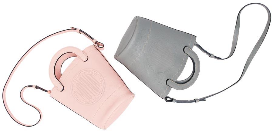 MOYNAT Fleur水桶包以荔枝紋小牛皮製作,10萬600元。(MOYNAT提供)